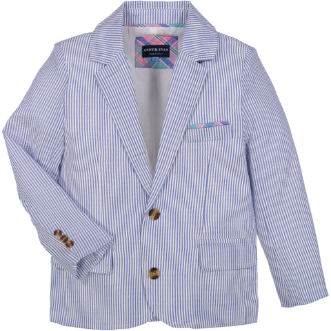 Light Blue Seersucker Suit - Andy & Evan