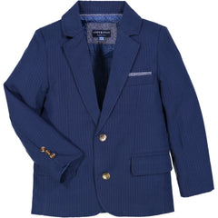 Navy Seersucker Suit