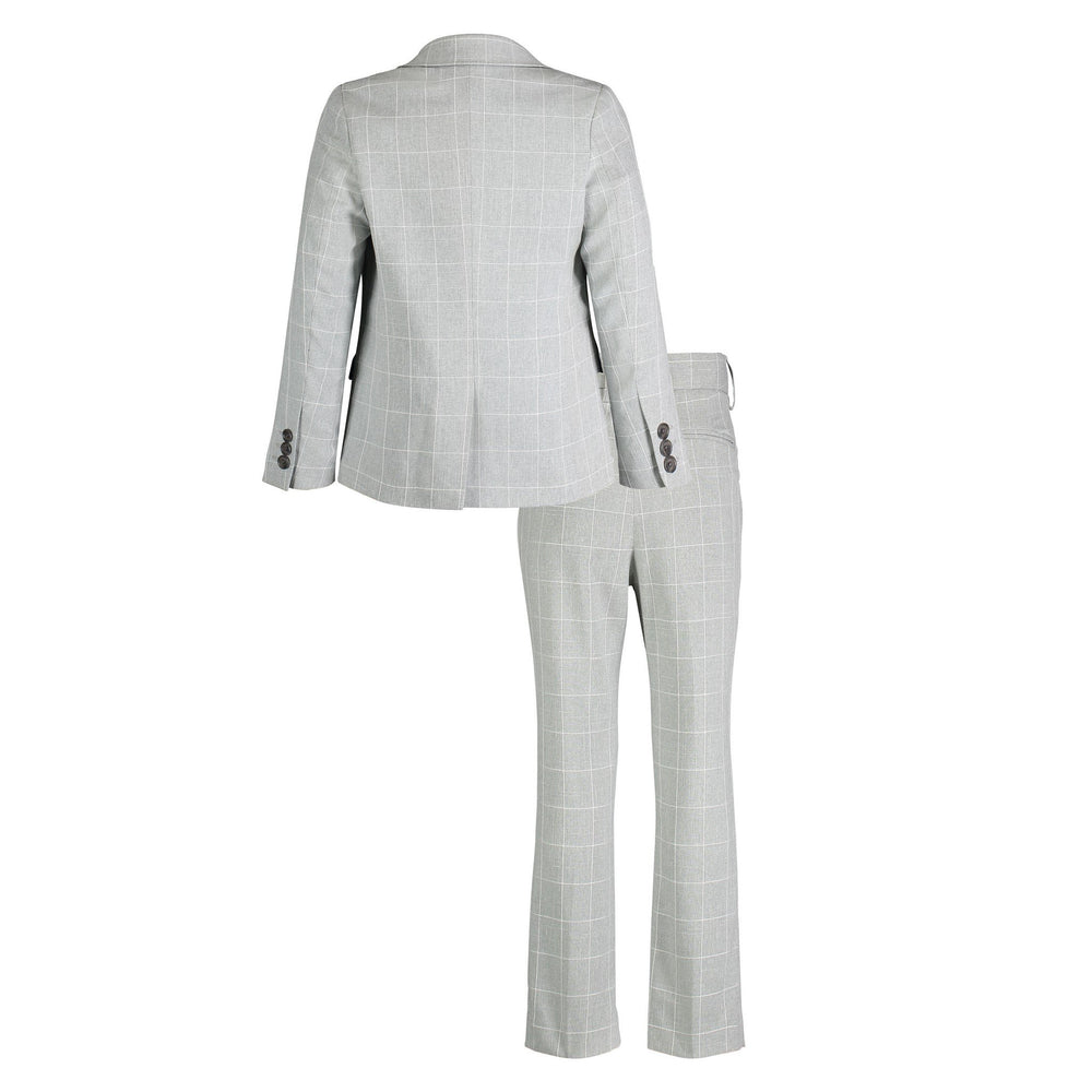 Grey Windowpane Suit Set - Andy & Evan