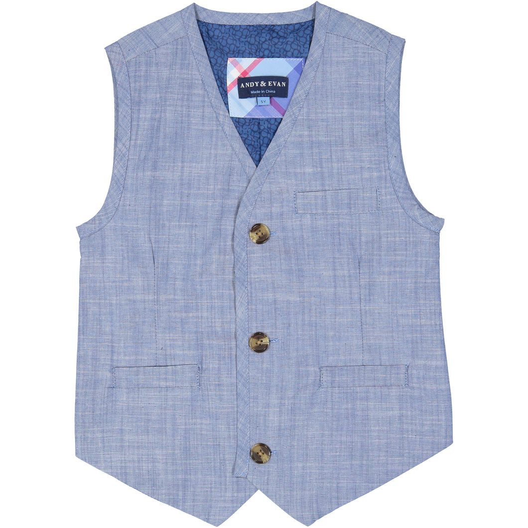Chambray Suit Vest Set - Andy & Evan