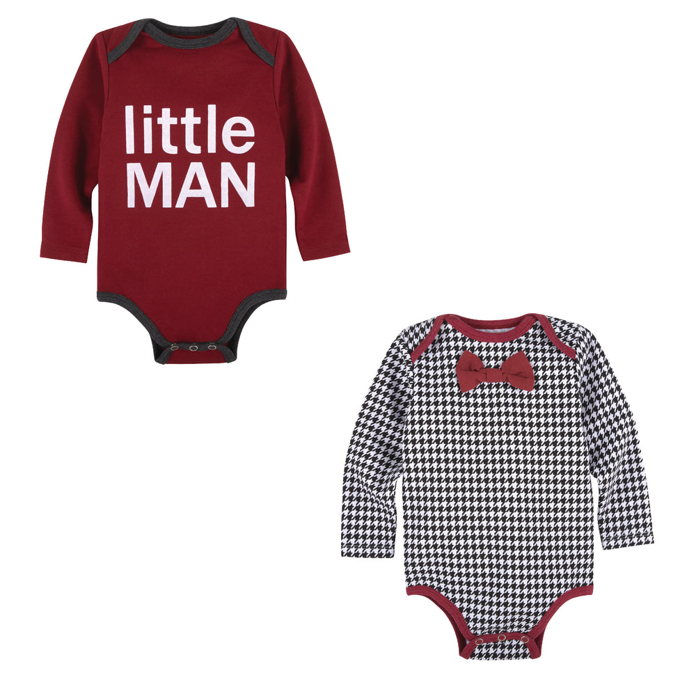 Two Pack Bodysuit Set - Little Man & Plaid - Andy & Evan