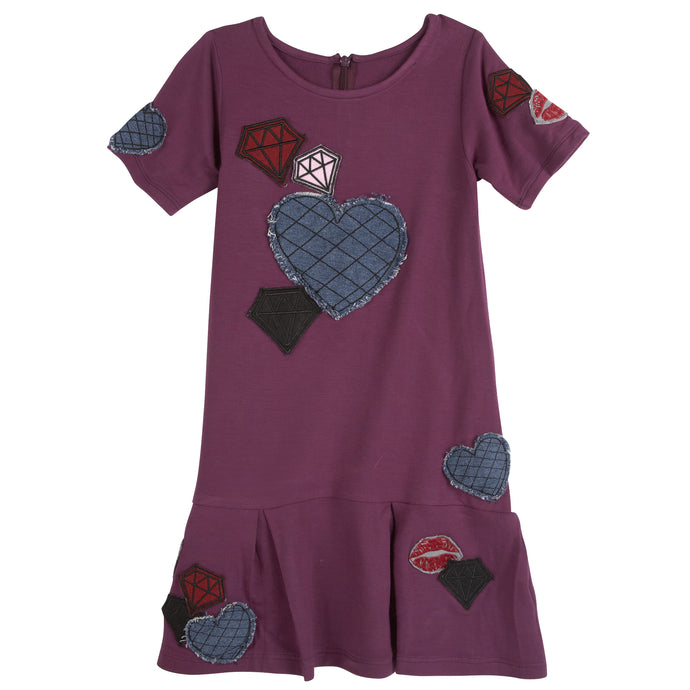 Maroon Patches Dress - Andy & Evan
