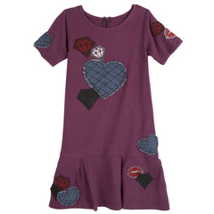 Maroon Patches Dress