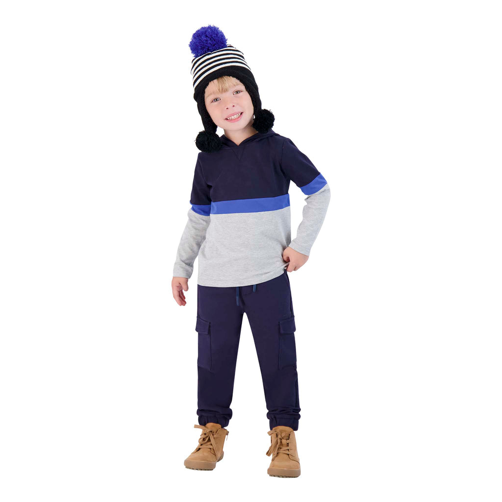 Boys Colorblocked Pullover Hoodie - Andy & Evan