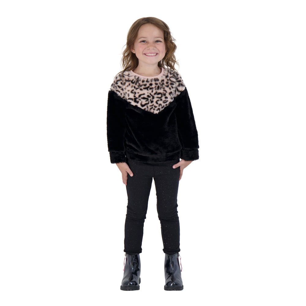 Girls Leopard Sweater - Andy & Evan