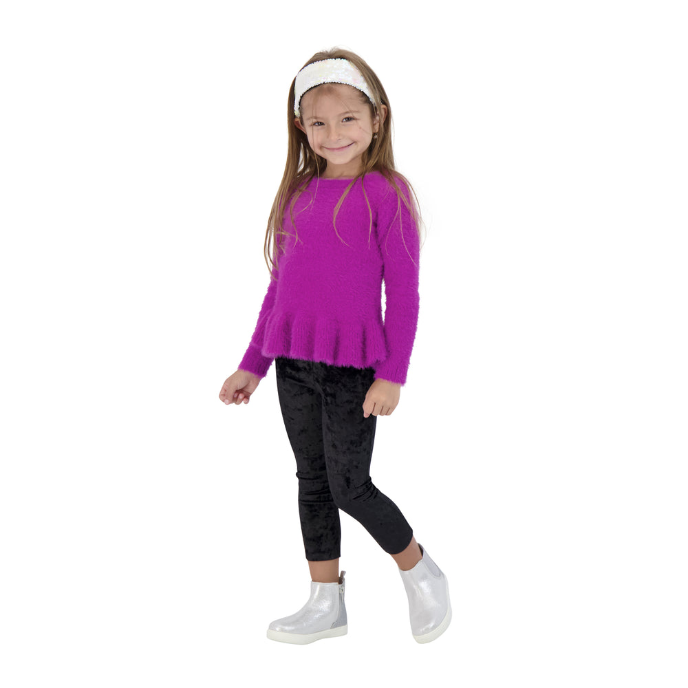 Girls Long Sleeve Eyelash Tunic Sweater - Andy & Evan