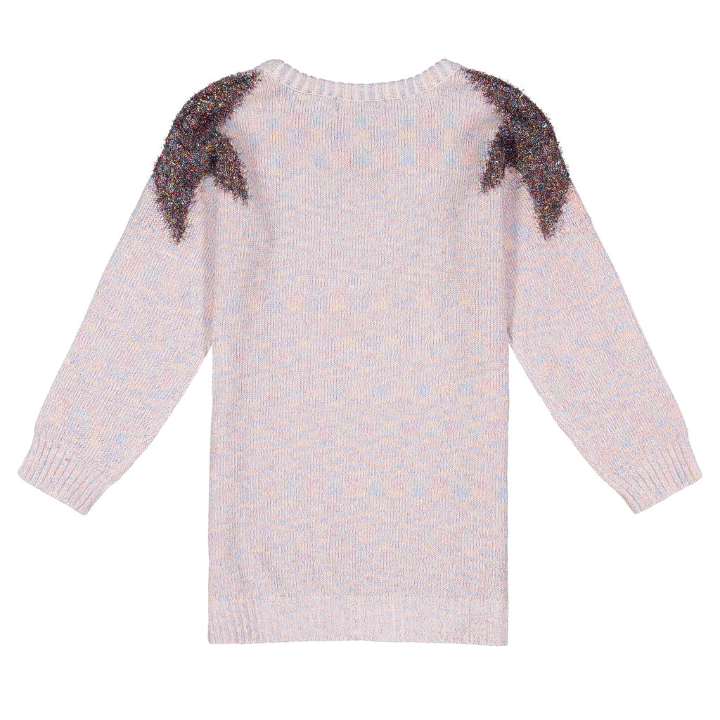 Girls Long Sleeve Lurex Sweater W/ Star Shoulder - Andy & Evan