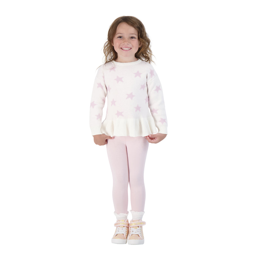 Baby Girls Pink Star Shirt And Pants Two Piece Set - Andy & Evan