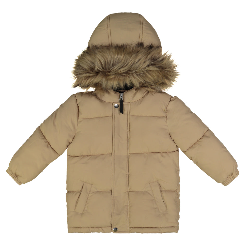 Boys Beige Nordic Bubble Jacket - Andy & Evan