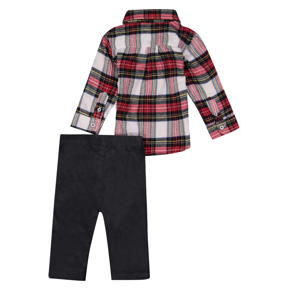 Flannel & Corduroy Pant Set - Andy & Evan