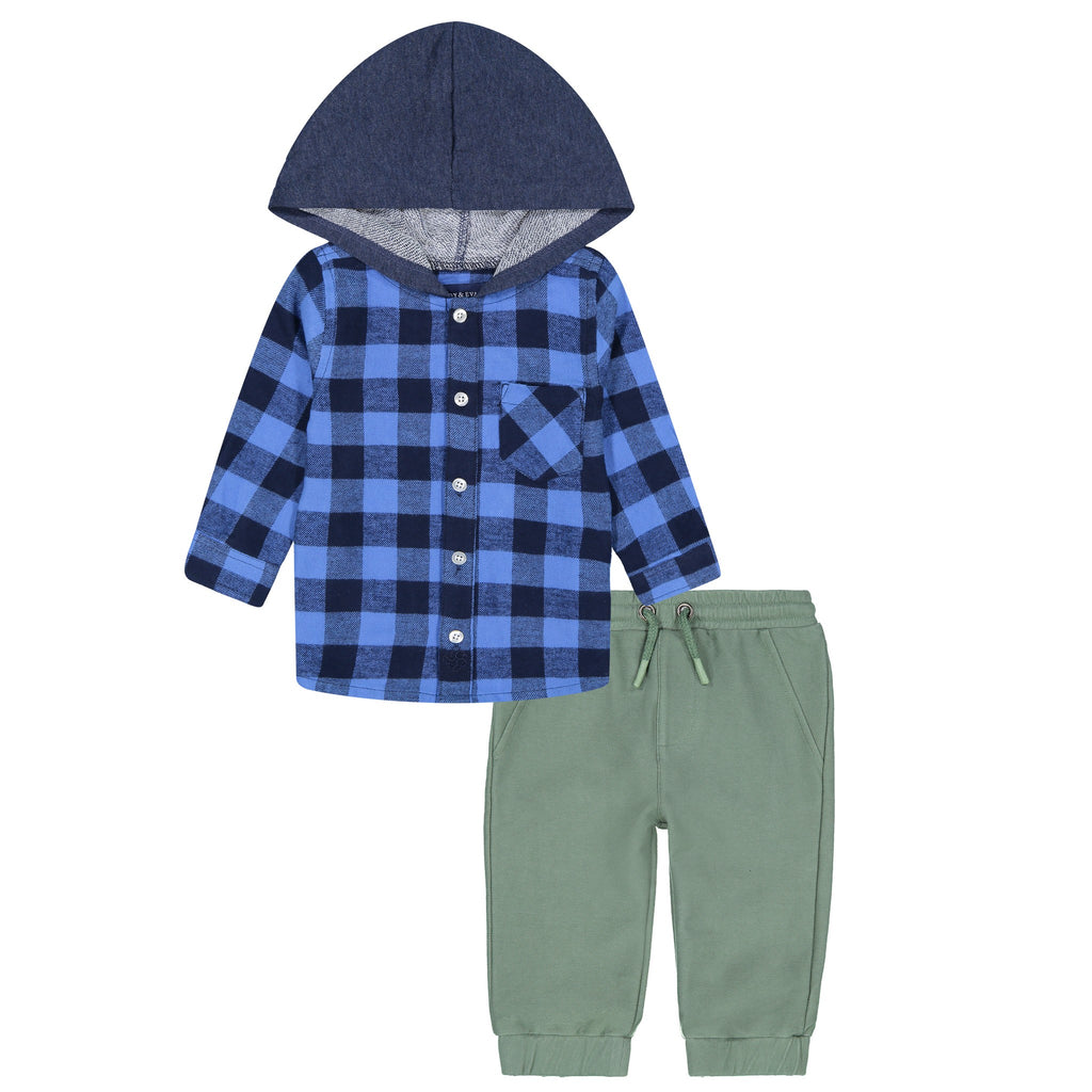 Button Down Hoodie/ Jogger Set - Andy & Evan