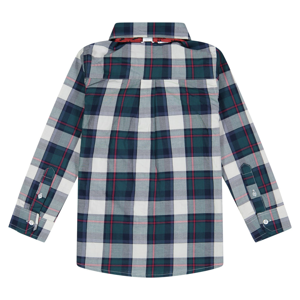 Green Plaid Shirt with Bowtie Set - Andy & Evan