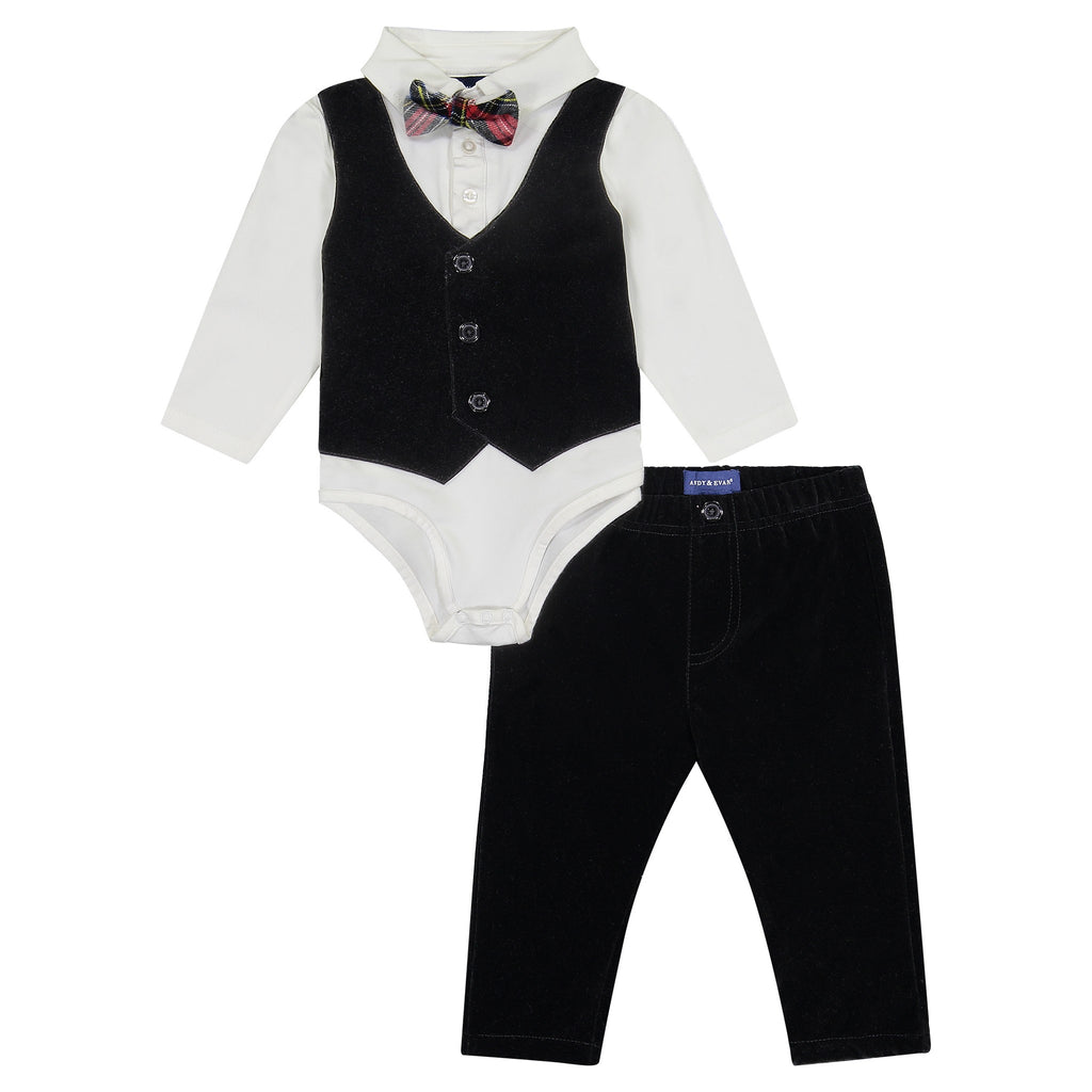 Infant Boy Bowtie Vest Shirtzie Set - Andy & Evan
