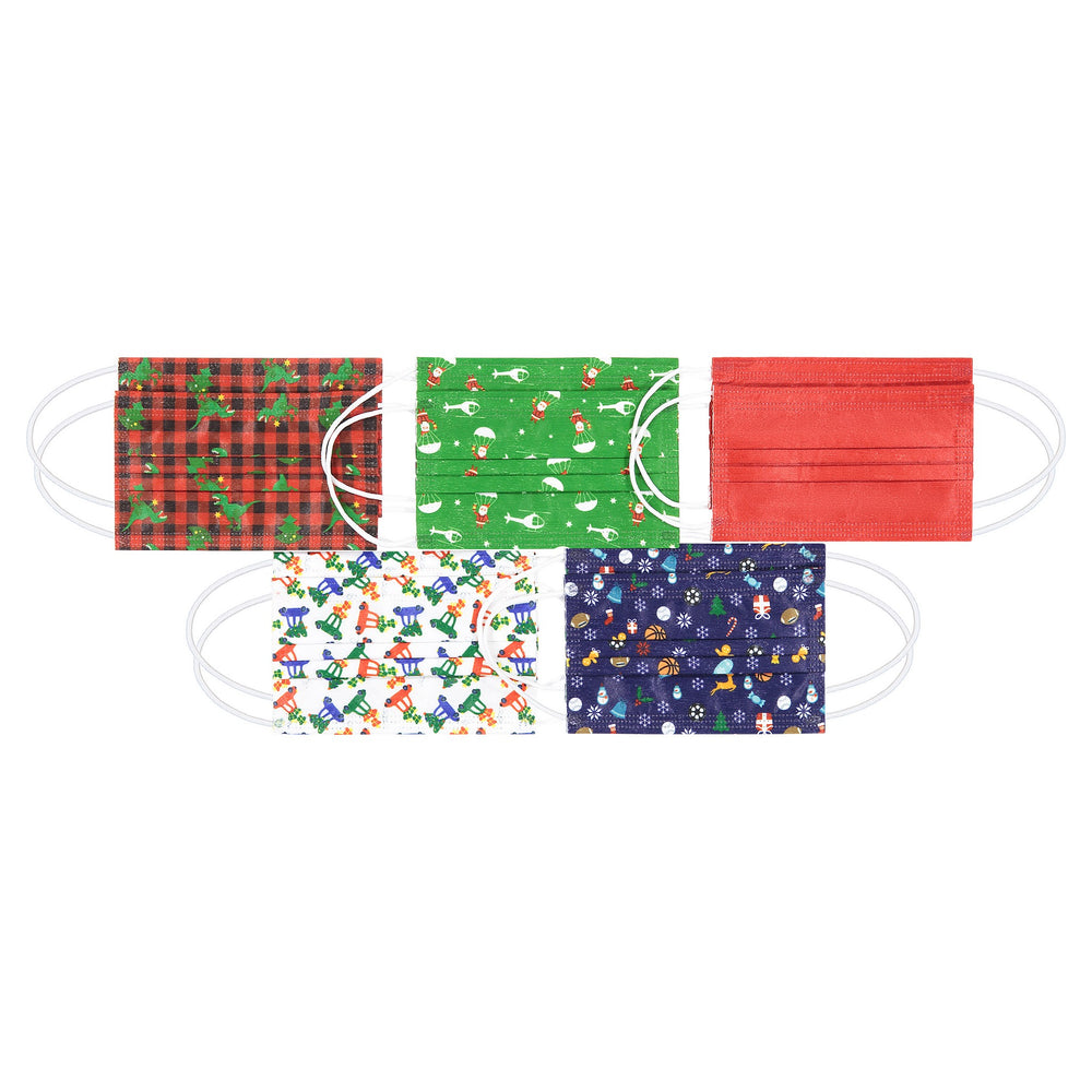 Child (2 - 7) Holiday Disposable Masks (10-Pack) - Andy & Evan