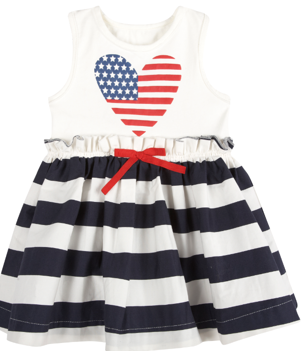 Stars & Stripes Dress (NEW! G-Cutee by Andy & Evan) - Andy & Evan