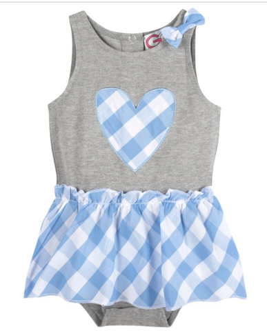 Gingham Body Suit (NEW! G-Cutee by Andy & Evan) - Andy & Evan
