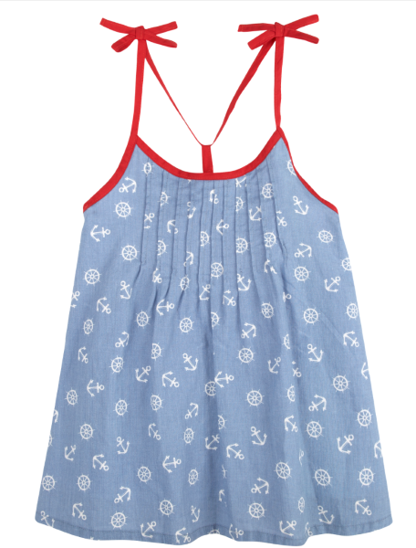 Printed Nautical Dress (NEW! G-Cutee by Andy & Evan) - Andy & Evan