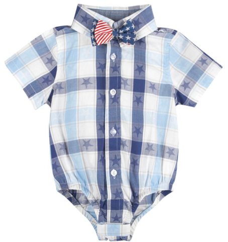 NEW! G-Cutee® by Andy & Evan- Americana Shirt & Bowtie Set