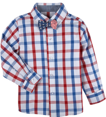 Red, White & Blue Shirt & Bowtie Set (NEW! G-Cutee by Andy & Evan)