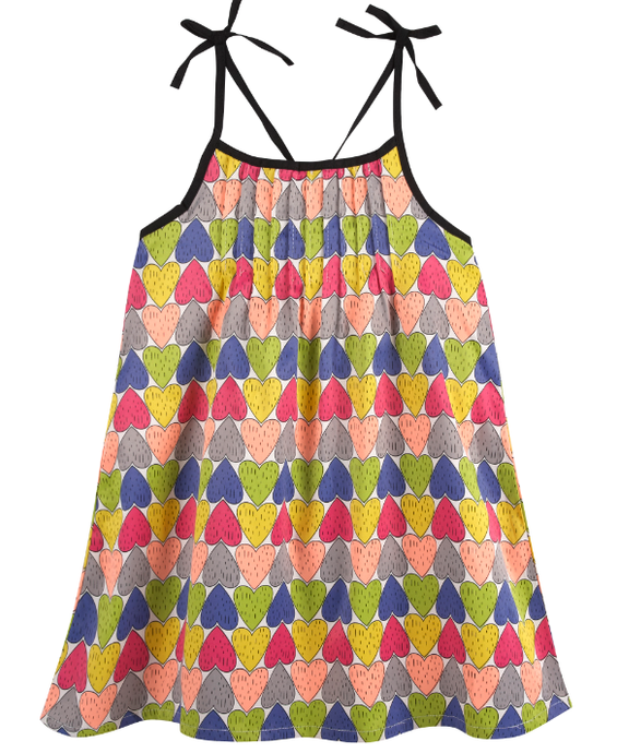 Printed Heart Dress (NEW! G-Cutee by Andy & Evan) - Andy & Evan