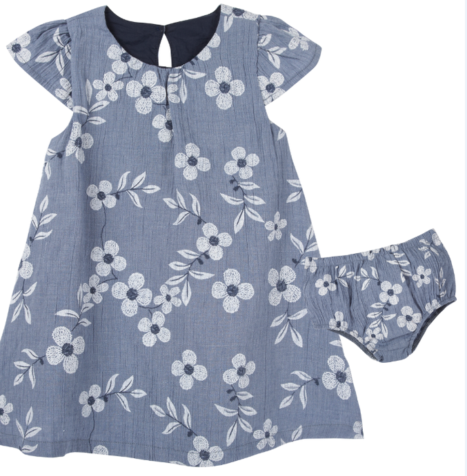 Printed Chambray Floral Dress (NEW! G-Cutee by Andy & Evan) - Andy & Evan
