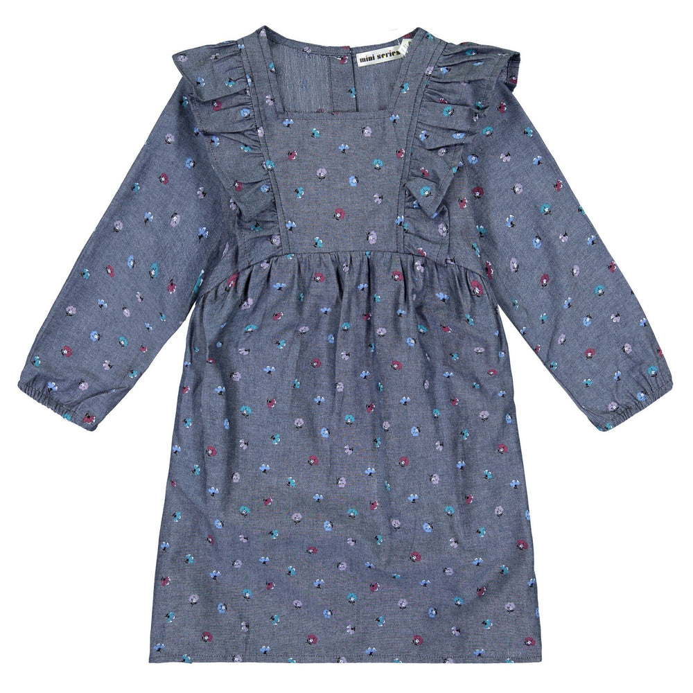 Girls Ditsy Printed Chambray Dress - Andy & Evan