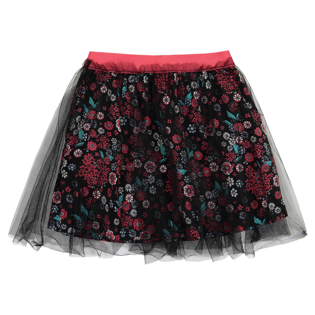Girls Flower Mesh Tutu Skirt - Andy & Evan