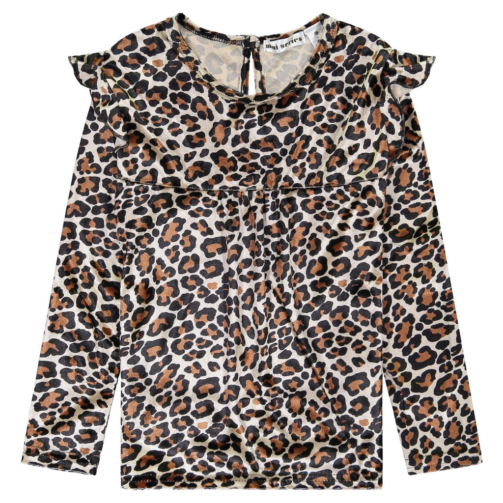 Girls Long Sleeve Animal Printed Top - Andy & Evan