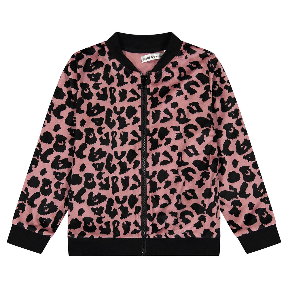 Girls Animal Print Bomber - Andy & Evan
