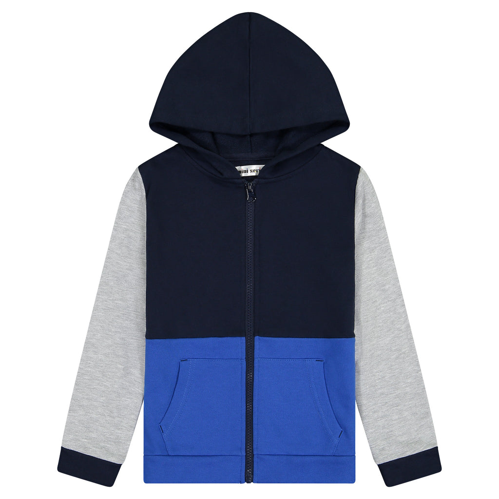 Boys Color Blocked Hoodie - Andy & Evan