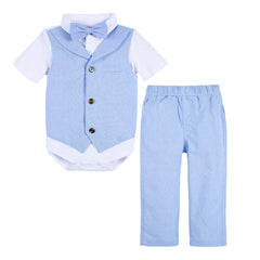 Light Blue Oxford Two-Piece Playsuit