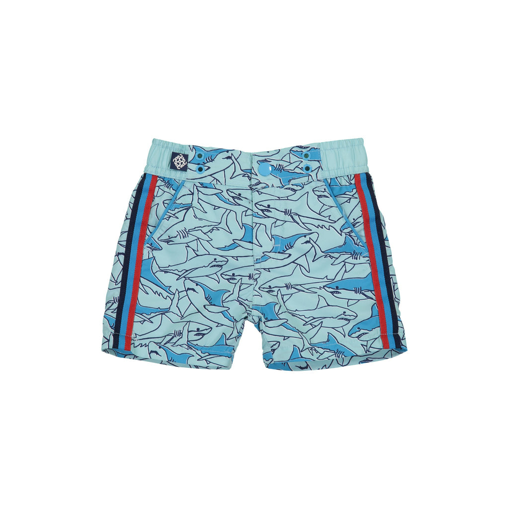 Infant Boy's  Boy Shark Enthralled Swim Trunk - Andy & Evan