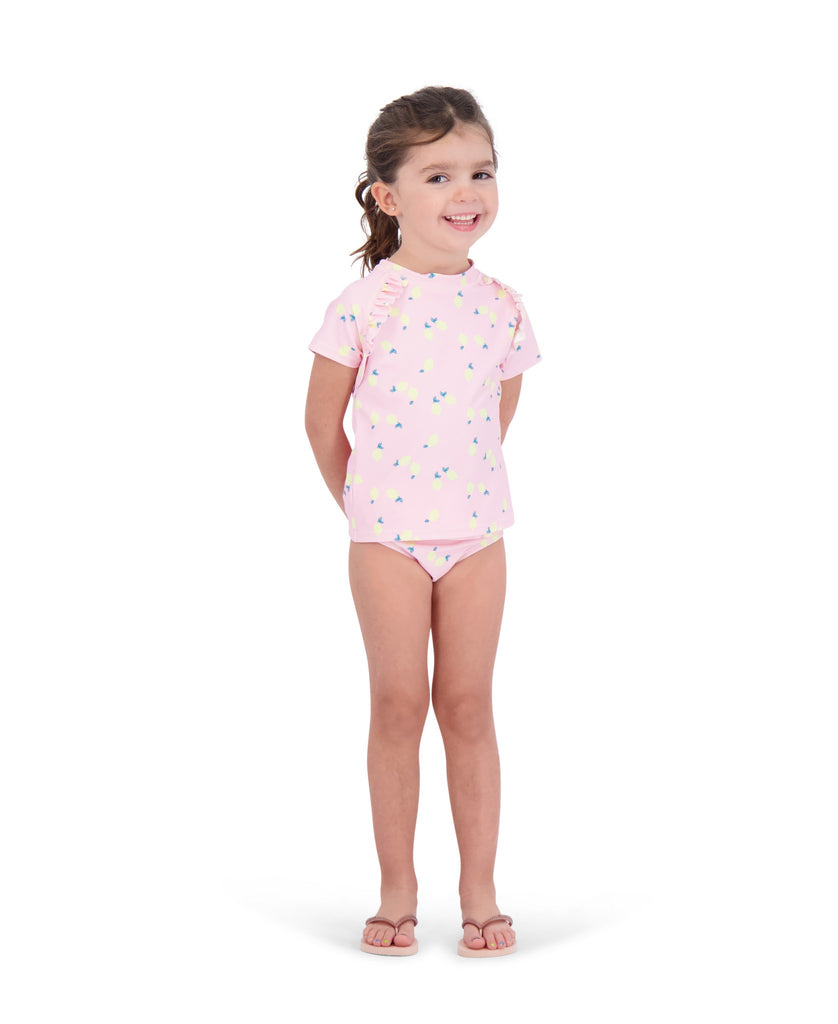 UPF 50 Girls Lemon Swim Suit - Andy & Evan