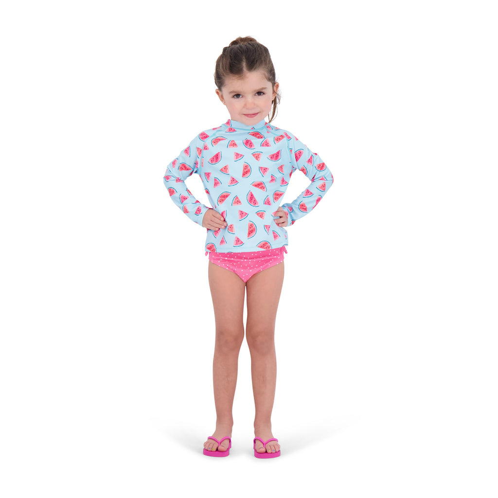 UPF 50 Baby Girls Watermelon Dot Swim Set - Andy & Evan