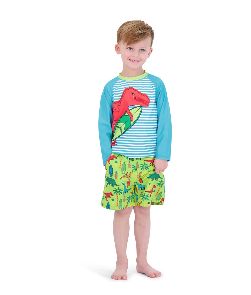 UPF 50 Infant Boys Dino Rashguard Set - Andy & Evan