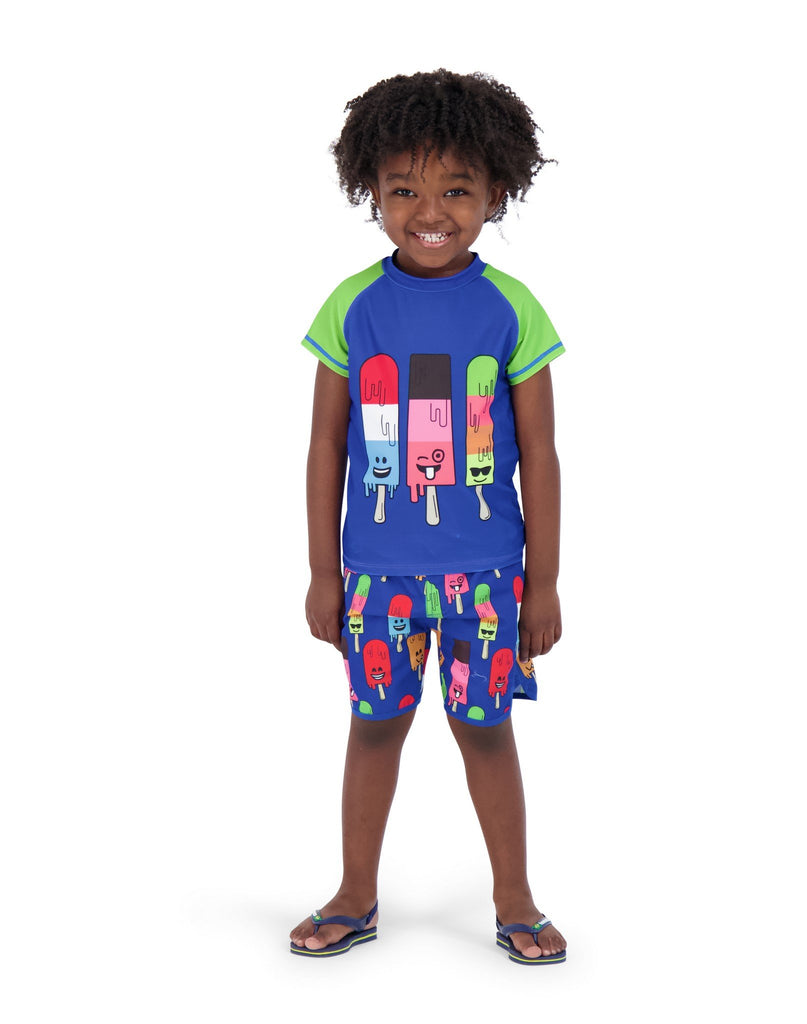Father & Son | UPF 50 Popsicle Rashgaurd Set - Andy & Evan