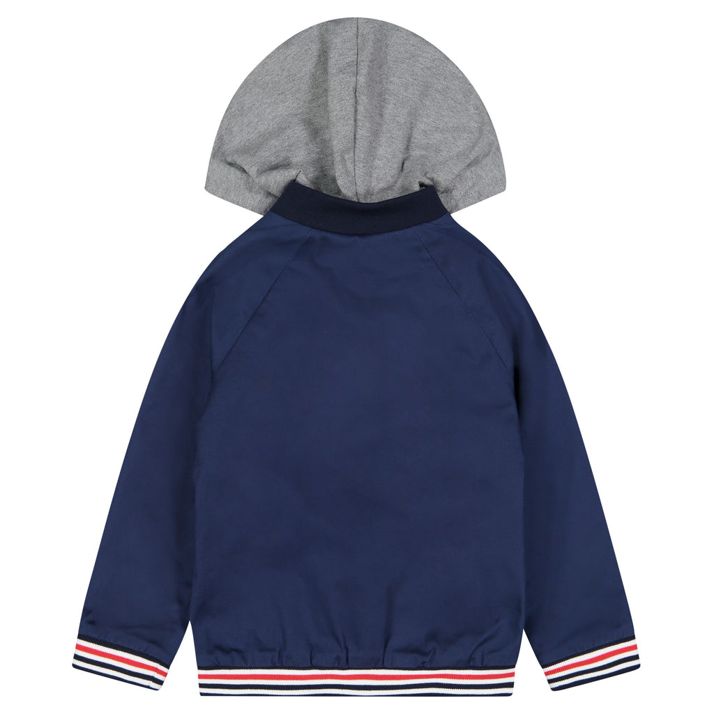 Boys Brushed Twill Hooded Bomber - Andy & Evan