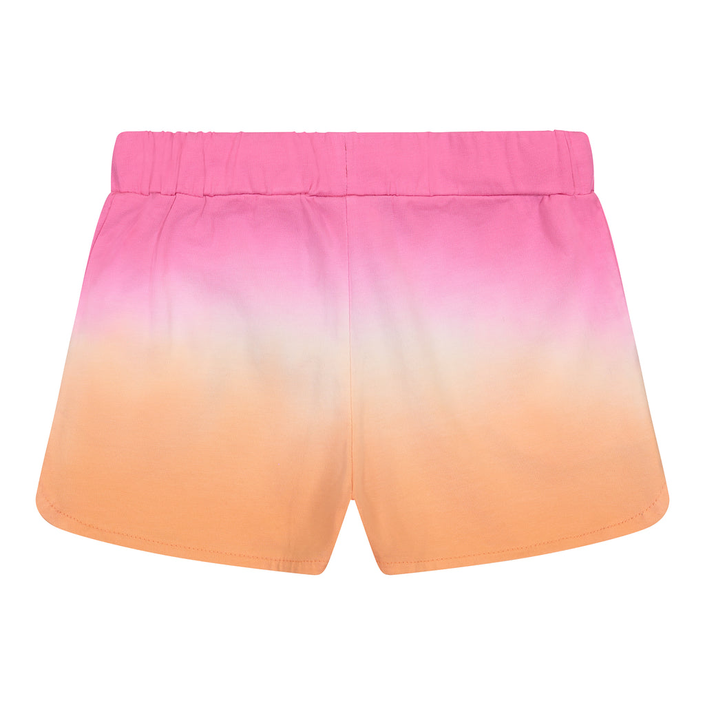 Girls Pink Ombre Drawstring Shorts - Andy & Evan