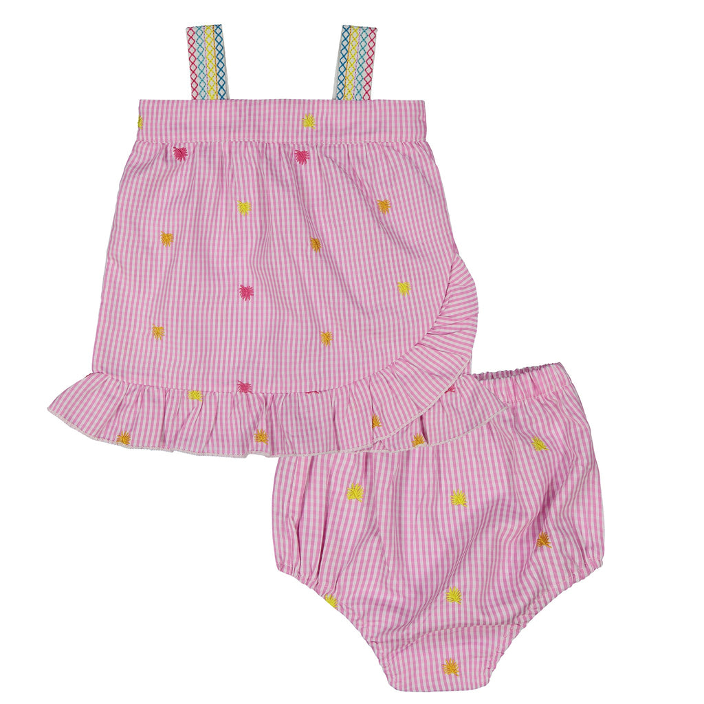 Baby Girls Gingham Ruffle Set - Andy & Evan