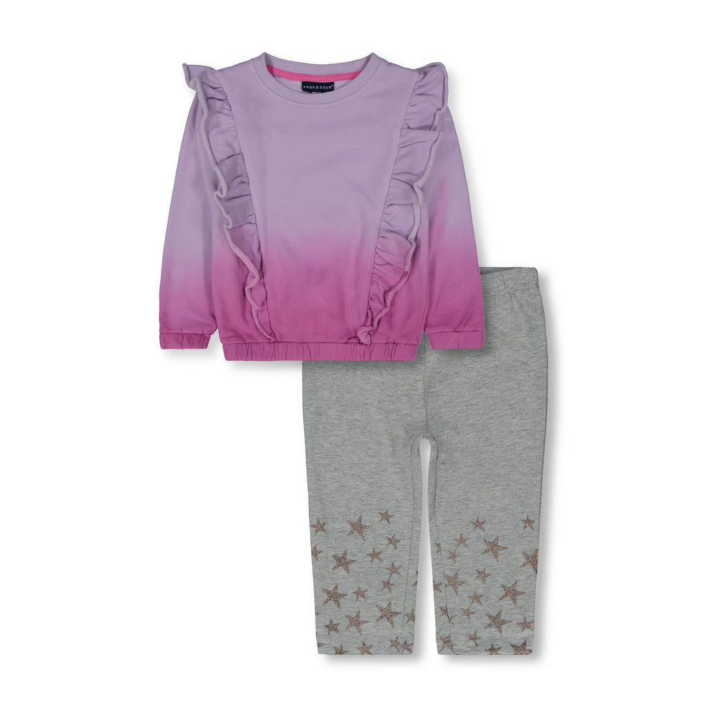 Ruffle Sweatshirt Legging Set - Andy & Evan