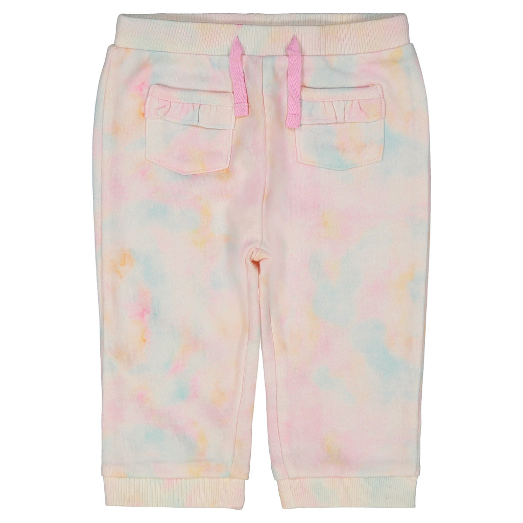 Baby Girl Pastel Tie Dye Sweatshirt Set - Andy & Evan