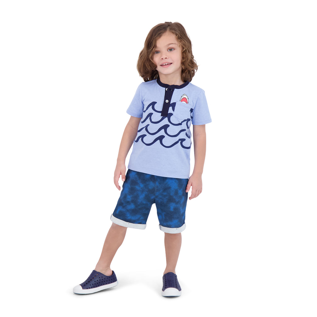Boys Graphic Henley Tee Shirt Set - Andy & Evan