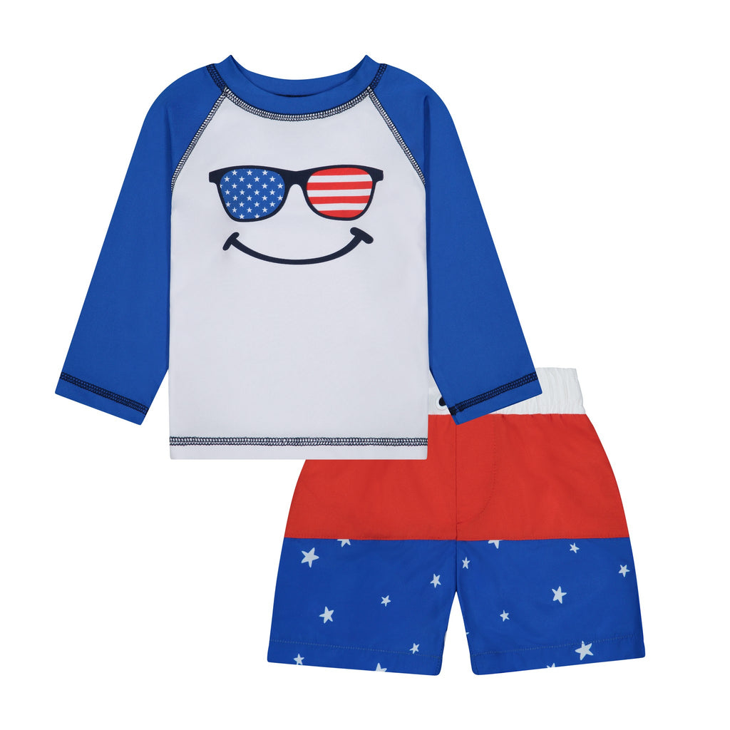 Infant Americana Rashguard Set - Andy & Evan
