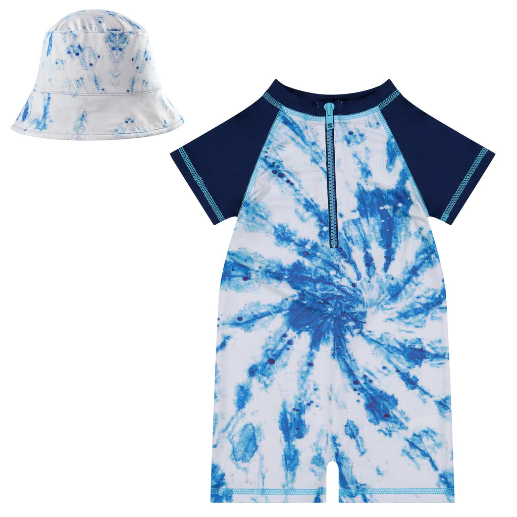 Infant Tie Dye Swim Romper Set - Andy & Evan