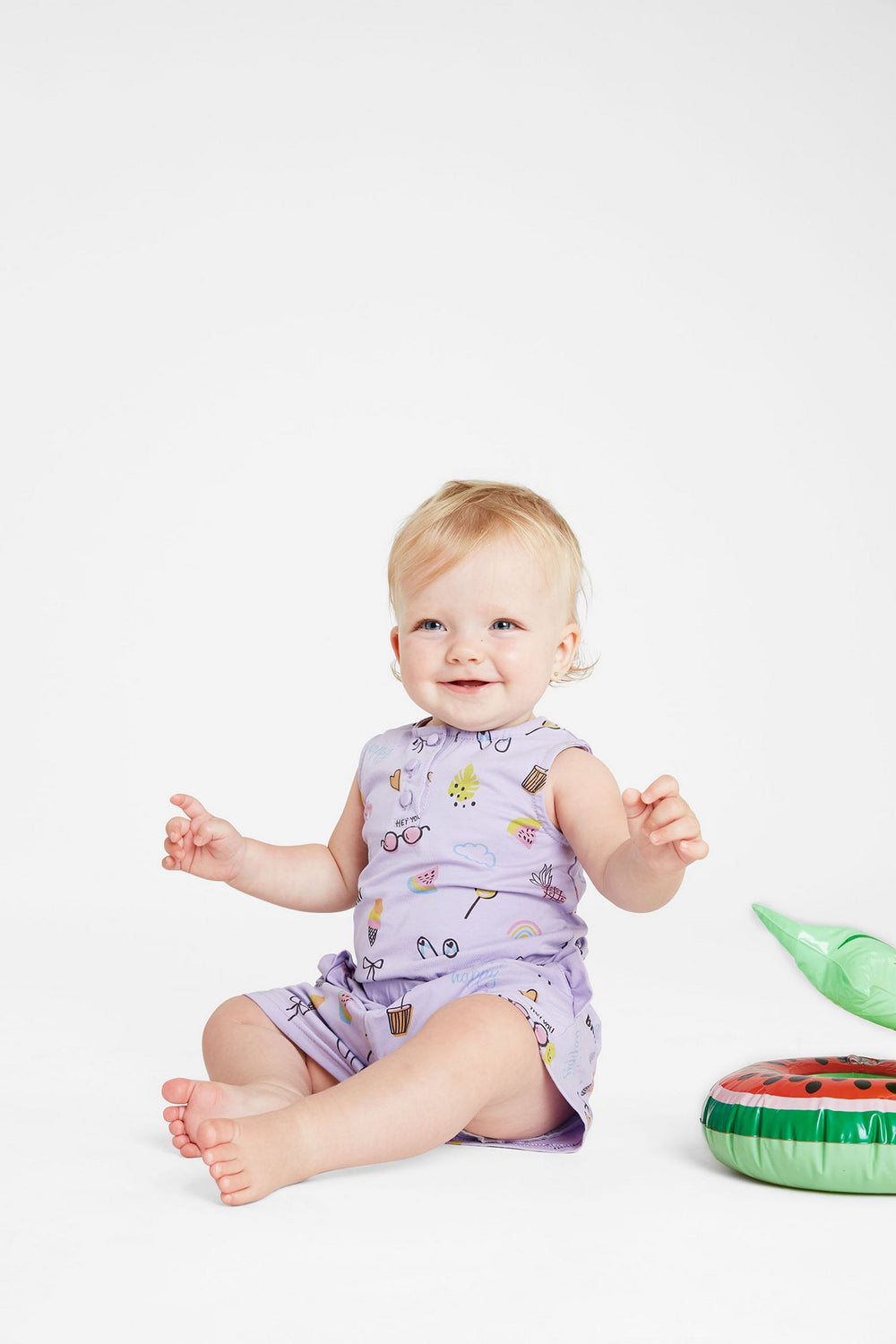 Purple Baby Summer Romper - Andy & Evan