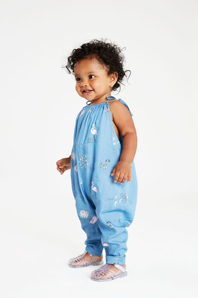 Printed Denim Baby Jumper - Andy & Evan