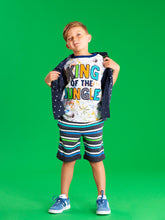 Load image into Gallery viewer, King of the Jungle with Applique Felt Letters Graphic Tee - Andy & Evan