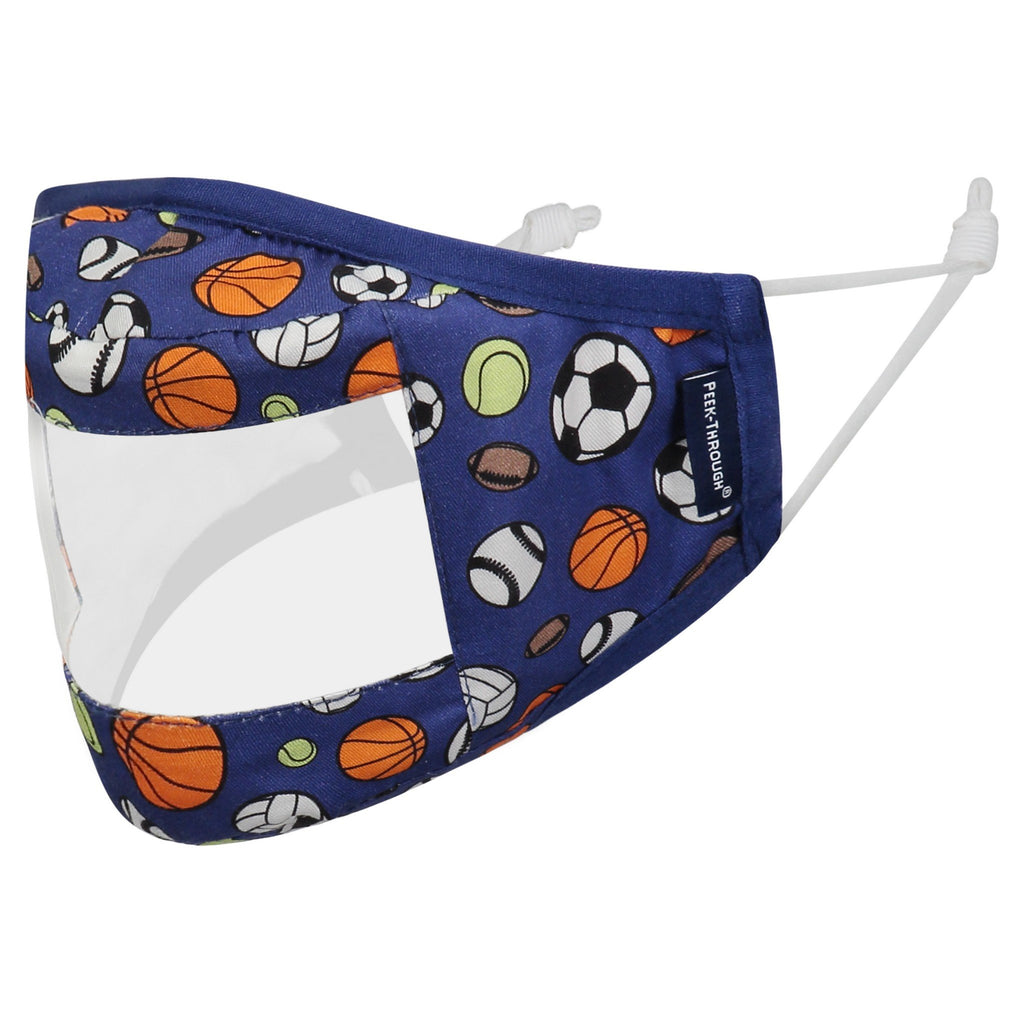 Peek-Through™ Masks 3 Pack (Ages 4-12 Years) - Blue Sports - Andy & Evan