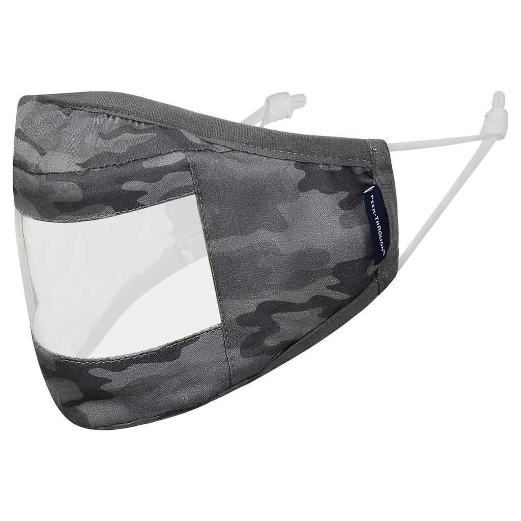 "Peek-Throughâ""¢  Masks 3 Pack (Ages 4-12 Years) - Grey Camo - Andy & Evan"