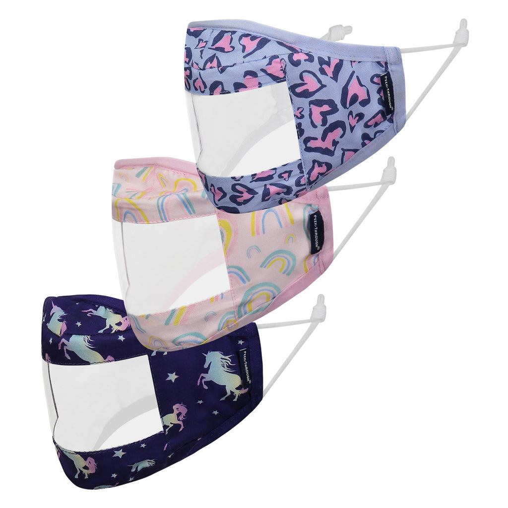 Peek-Through™  Masks 3 Pack (Ages 4-12 Years) - Purple Unicorn - Andy & Evan